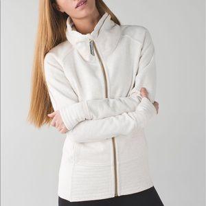 Lululemon Radiant Jacket Heathered Angel White